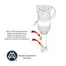 VW Phaeton Shock absorbing strut air suspension rear left 3D0616001G