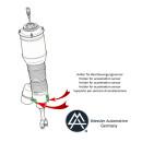 VW Phaeton Amortiguador neumático para...